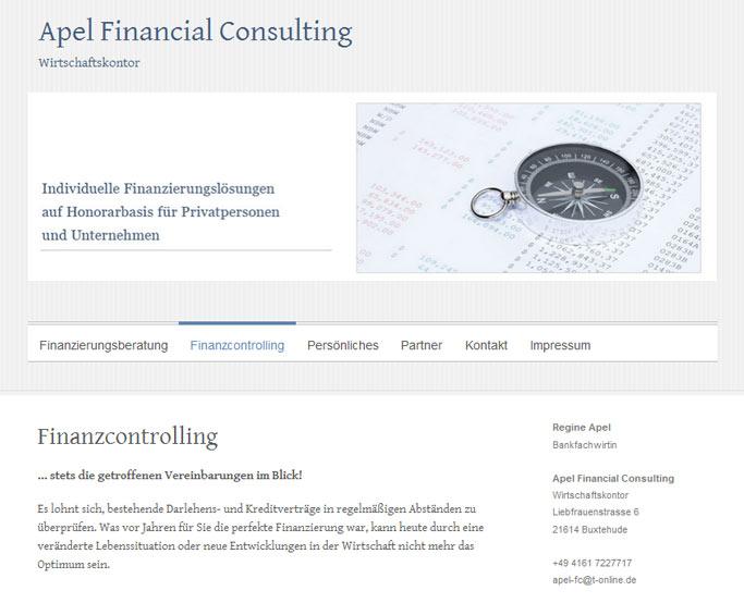 Website mit Wordpress für Finanzberatung
