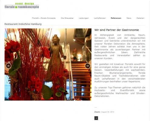 Website und Marketing für Floristen