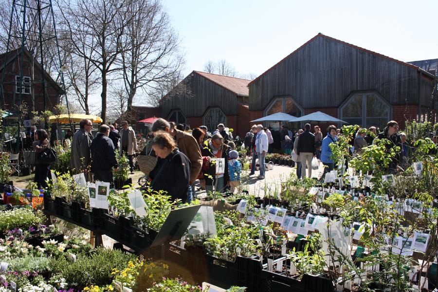 Besucher auf dem Pflanzenmarkt Kiekeberg