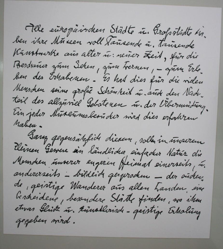 Vermächtnis, Handschrift Emil Nolde