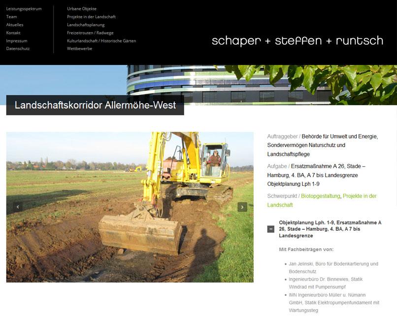 Website für Garten- Landschaftsarchitekten