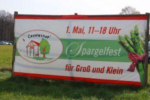 Banner Spargelfest auf dem Cassenshof
