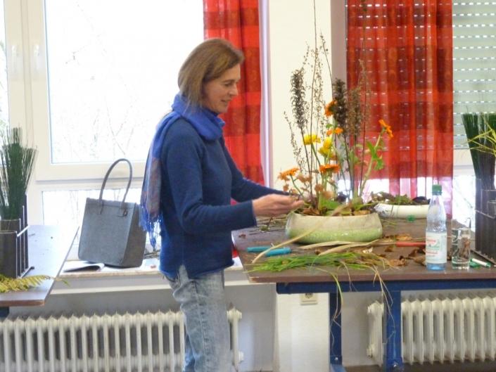 """Diana Fütterer von gruenestreiben beim Seminar """"Floristik kreativ und rentabel"""""""