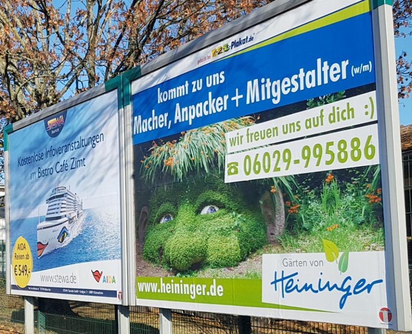 Website + Plakatgestaltung für Landschaftsgärtner