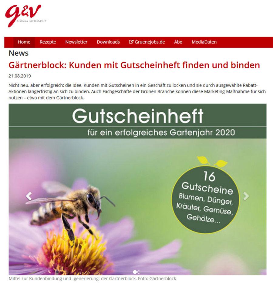 Der Gärtnerblock bei g + v
