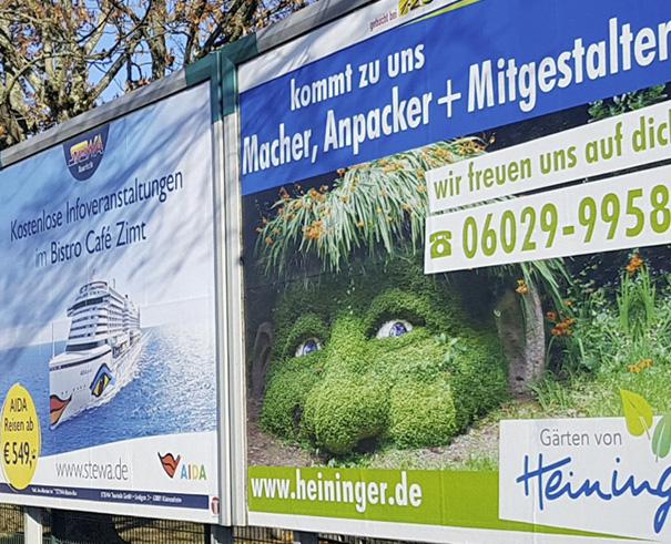 Plakatgestaltung Heininger, Außenwerbung