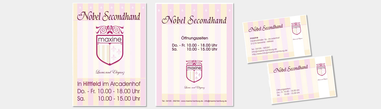 Logo Plakat Visitenkarte für Damenmode