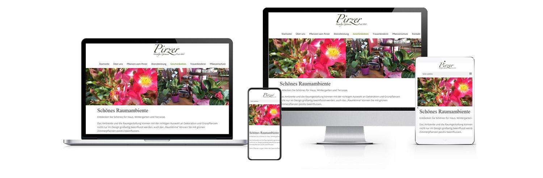 Website für Gärtnerei