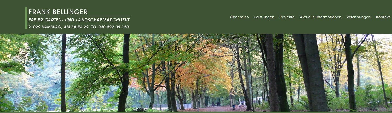 Titelbild vom Architekturbüro Frank Bellinger, Weg durch Laubwald im Frühherbst. Die Landschaftsarchitekt Webseite haben wir für den Landschaftsplaner in Wordpress gestaltet.