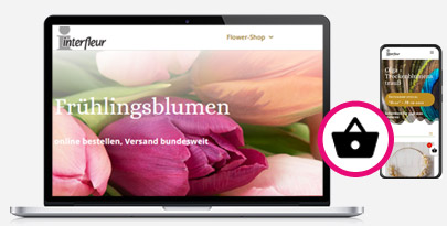 Onlineshop für Blumenversand von Werbeagentur Harburg
