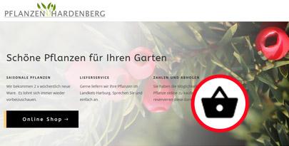 Webshop für Pflanzenhandel erstellen lassen, mit Text von Internetagentur, Harburg Neugraben