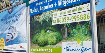 Plakat Grossformat von Werbeagentur Harburg Rosengarten
